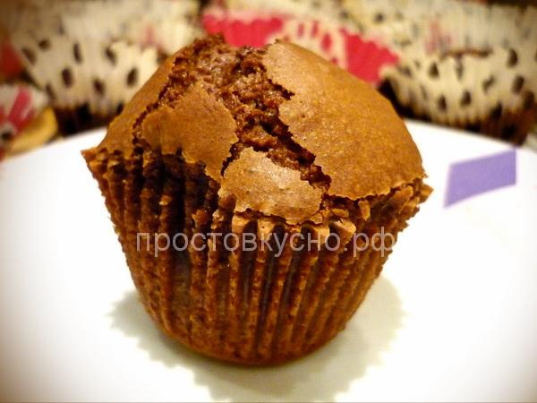 Шоколадные кексы Лава