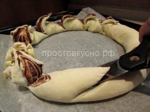 Шоколадно-ореховый рулет