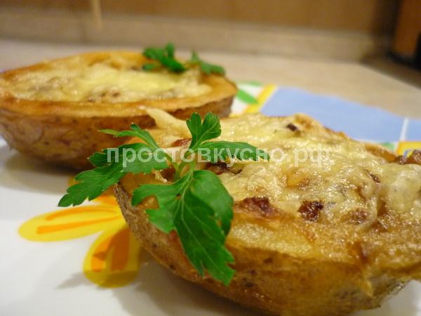 Жульен в картофельной кокотнице