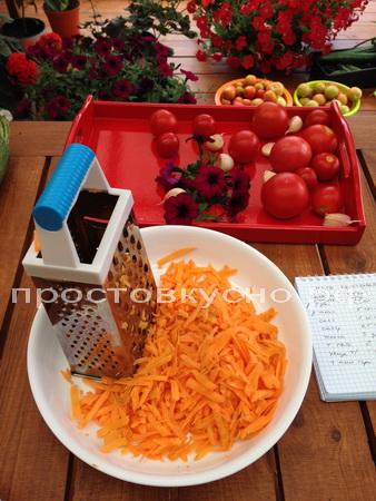 Морковку трем на терке