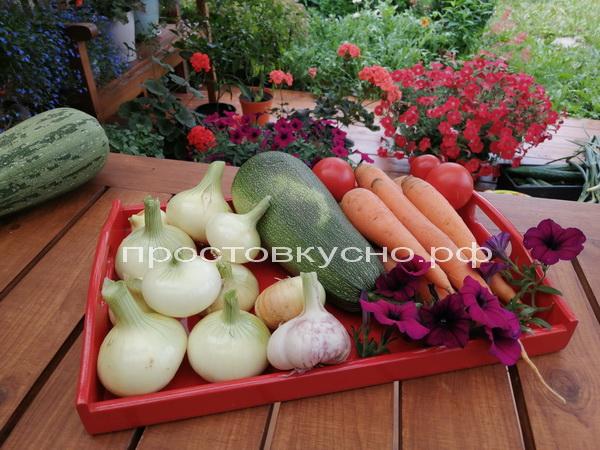 Овощи тщательно моем
